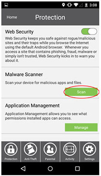 Get Started with SecureIT Android - Protection Scan