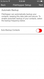 Install - Auto backup Contacts
